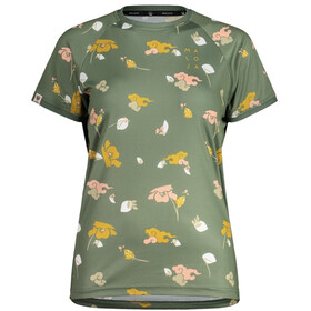 Maloja ErvaM. AOP Multi 1/2 Multisport t-shirt Damer, cypress poppy cloud